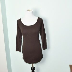 Tops - Adorable Chocolate Brown Long Sleeve Shirt